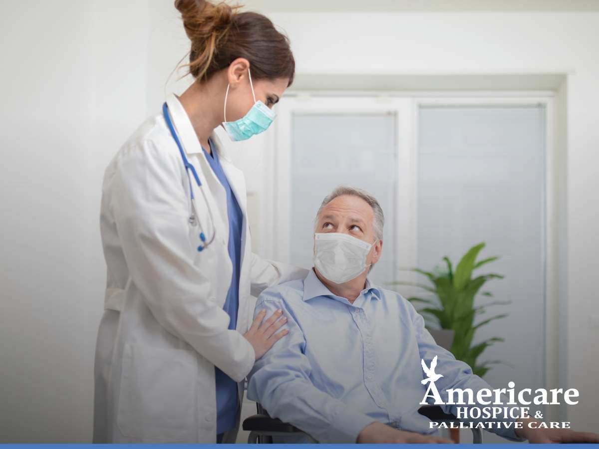 Professional Hospice Caregiver Practicing COVID-19 Safety Measures In Phoenix, AZ